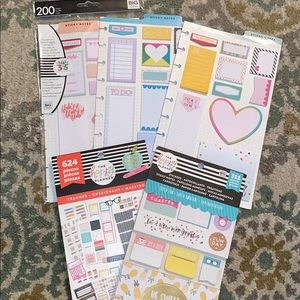 The Happy Planner sticker and sticky note bundle